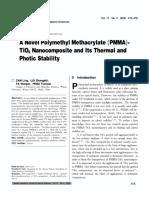 A Novel Polymethyl Methacrylate (PMMA).