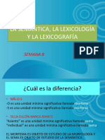 Semántica, Lexicología y Lexicografía