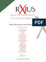 Revista Arxius - Especial Crisis Del Sindicalismo en El s.xxi, España