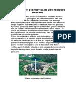 Valorización Energética de Los Residuos Urbanos (Curso Utu)