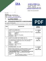 COTIZ. Productos - Planta de Harina de Pescado .... 08.06.17