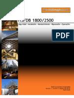 HSFDB 1800-2500 Instruction Manual V1 R3 - Spanish
