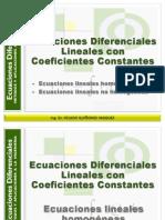 13. Ecuaciones Lineales Con Coefientes Constantes