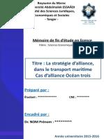 Mémoire Stratégie d'Alliance dans Le Transport Maritime