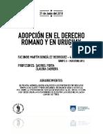Adopcion en el Derecho Romano y Hoy - Uruguay