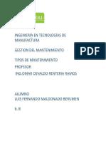 Ingeniería en Tecnologías de Manufactura