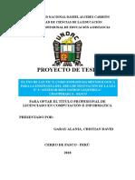 Garay Alania Cristian David - Proyecto Tesis