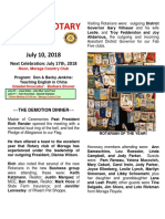Moraga Rotary Newsletter for July 10 2018