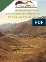Plan de Desarrollo Al 2021. Comunidad Campesina de Chilloroya. Para Entregar 07-03-18 (1)
