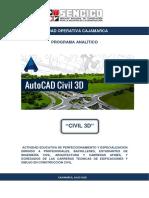 Programa Analitico Civil 3d - Miguel b