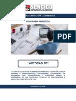 Programa Analitico Autocad 2D - Miguel B