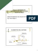 Tema 4. Sistema de Distribucion Directo Para Agua Potable