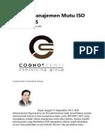 Sistem Manajemen Mutu ISO 9001