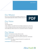 Allina Health Mission Vision Values Promise