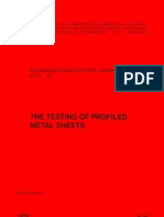 No020-ECCS Publication-European Recommendations for the Testing of Profiled Metal Sheets