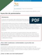 Inyección de pentostatina