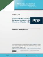 Ementa - Pensamento Econômico Latino-Americano - Prebisch-Cardoso-Fajnzylber