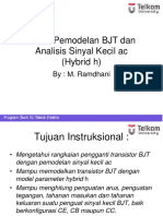 Bab 6a Pemodelan BJT Dan Analisis Sinyal Kecil Ac Hybrid h
