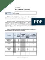 ANÁLISIS DE LA COBERTURA CURRICULAR (2)