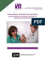 Immunization of Health Care Personnel