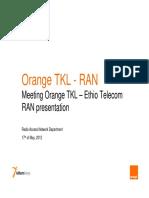 Orange Kenya RAN Presentation Ethio DAY TWO v1.0