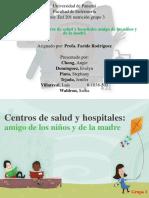 centros de salud y hospitales amigos de los niños y de la madre