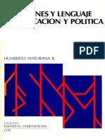 Emociones y Lenguajes en Educación y Política