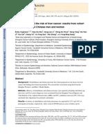 Cohort Study Cholelithiasis