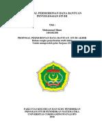 Proposal Permohonan Dana Bantuan Penyelesaian Studi 2