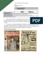 Guía de museo de la memoria 4° Medio