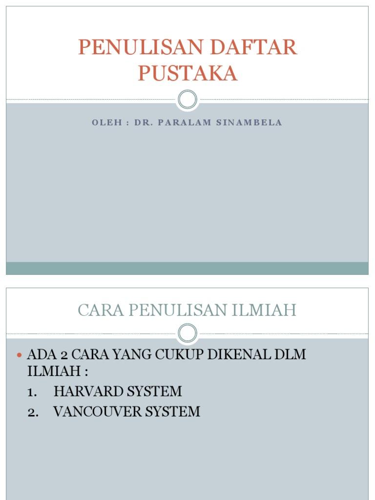 Penulisan Daftar Pustaka Pptx