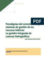 Paradigamas Del Conocimiento y Sistemas de Gestión de RR Hídricos