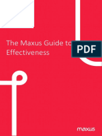 The Maxus Guide to Effectiveness