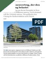Der Millionenvertrag, Der Den SRG-Umzug Belastet - Schweiz