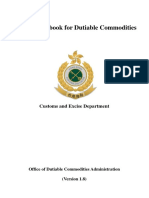 User Guidebook for Dutiable Commodities En