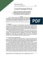 7. Z Source Inverter Topologies-A Survey