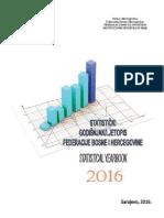 Statistički godišnjak/ljetopis Federacije BiH 2016