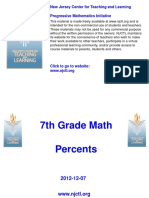 Grade 7 Percent Powerpoint NJCTL