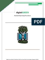 Digital Green Standard Operating Procedures
