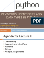 Lecture_2(Keywords, Identifiers and Data Types)