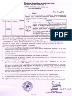 Notice Inviting Applications for Recruitment in the Post of Sanitary Inspector (SC)