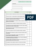 formato de  Inspección de Estructuras