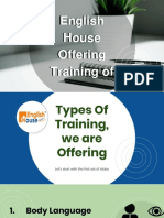English House Offering Training Of