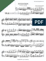 Bach Invention No8 Czerny