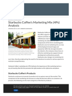 Starbucks Coffee's Marketing Mix (4Ps) Analysis - Panmore Institute