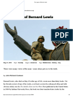 The Political Legacy of Bernard Lewis