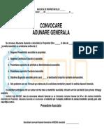 Model Convocator AGP