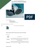 Tubular FO Membranes in Tubular Modules _ ForwardOsmosisTech