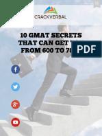 10 GMAT Secrets to Score Above 700