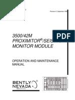 3500 42m Proximitor Seismic Monitor Module Op Maintenance Ma
